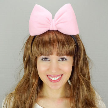 Minnie Mouse Ears Baby Pink Minnie Headband Mickey Ears Pink Minnie Ears Minnie Mouse Bow pink Mickey Mouse Ears Mickey Bow Women Girls Baby