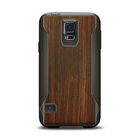 The Dark Walnut Stained Wood Samsung Galaxy S5 Otterbox Commuter Case Skin Set