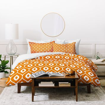 Aimee St Hill Leela Orange Duvet Cover