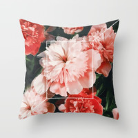 Blossoms Throw Pillow by lostanaw