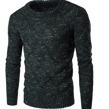 Men's Thick Knitted Pullover Sweater
