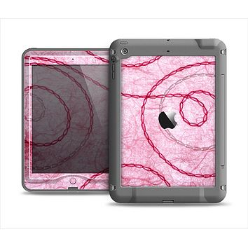 The Pink Chain Stitch Apple iPad Mini LifeProof Nuud Case Skin Set