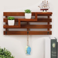 Wall Hanging Key Rack- Storage Phone Racks/ Wood Shelf/ Rack