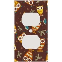 Retro Owls Decorative Outlet Cover