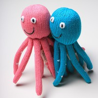 Organic Octopus Rattle Baby Toy