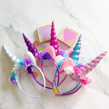 Children Unicorn Party Headband 0546