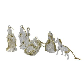 Club Pack of 432 - Baby Jesus The Manger The Virgin Mary Joseph a King and a Horse - Nativity Christmas Ornaments