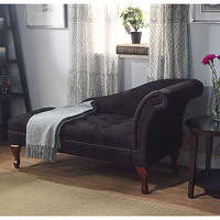 Simple Living Black Storage Chaise