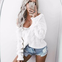 White Loose Sweater