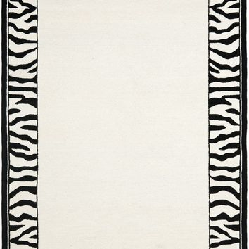 Chelsea Country & Floral Indoor Area Rug White / Black