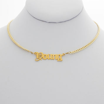 Young Nameplate Choker