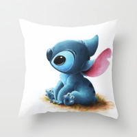Stitch Throw Pillow by Patricia Teo