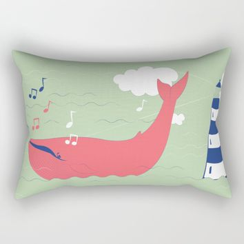 The Singing Whale Rectangular Pillow by Texnotropio