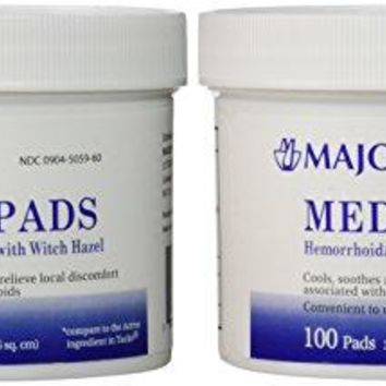 Medi-Pads Maximum Strength With Witch Hazel Hemorrhoidal Hygienic Cleansing Pads 100 Ct Jar Compare...