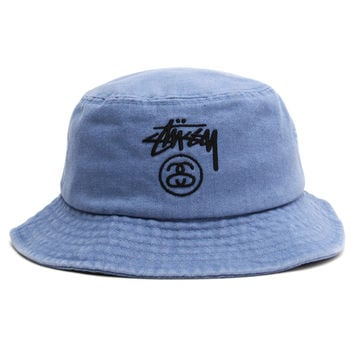 Stussy - Stock Lock Denim Bucket Hat (Indigo)