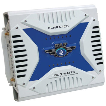 Pyle Elite Series Waterproof Marine Bridgeable Mosfet Class Ab Amp (4 Channels 1000 Watts)