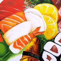 Colorful sushi painting!