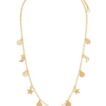 Star and Moon Charm Necklace