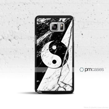 Marble Yin Yang Case Cover for Samsung Galaxy S5 S6 S7 S8 Plus Edge Active Note 4 5 7