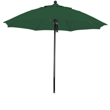 9 Foot Sunbrella 1A Fabric Complete Fiberglass Frame Pulley Lift Patio Patio Umbrella