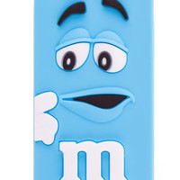Light Blue M&M Silicone iPhone 5 & 5S Case