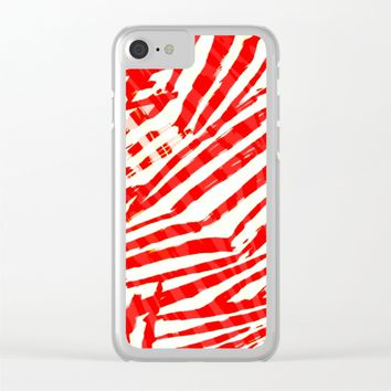 let's go a red blood trip Clear iPhone Case by hardkitty