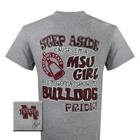 MSU Mississippi State Bulldogs Pride Girlie Bright T Shirt