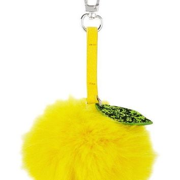 Lemon Pom Pom Keychain by Skinny Dip London