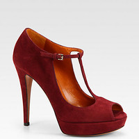 Gucci - Betty Suede Mary Jane Pumps