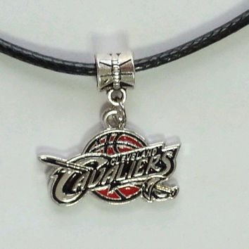 CLEVELAND CAVALIERS BLACK ROPE NECKLACE