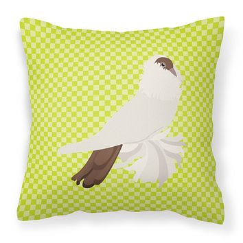 German Helmet Pigeon Green Fabric Decorative Pillow BB7770PW1414