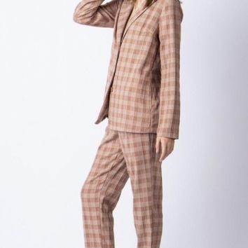 Muted Checker Trouser Pant