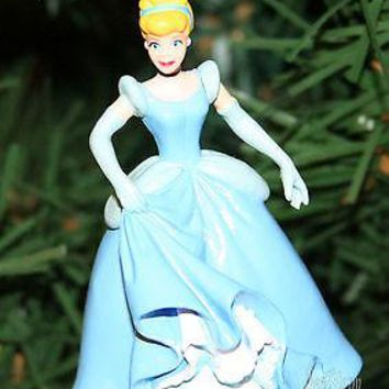 Licensed cool Custom Disney Princess Cinderella Movie Ball Gown Dress Christmas Ornament PVC