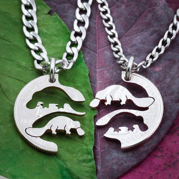 Platypus Best Friends Necklaces