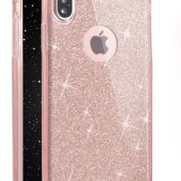 Connect Zone® Glittery Clear Flexible Gel Case Cover for iPhone X | eBay