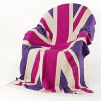NEW! Pink Union Jack Throw|Cushions & Throws|Accessories|French Bedroom Company