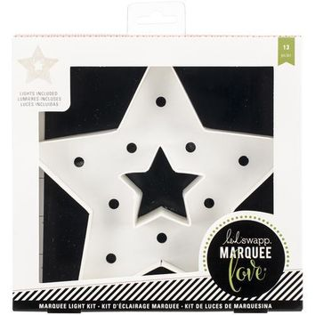 American Crafts Heidi Swapp Marquee Love Christmas Paper Shape  Star 8.5 X 8