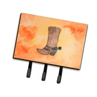 Cowboy Boot Watercolor Leash or Key Holder BB7371TH68