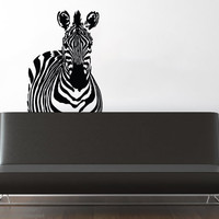 Wall Decal Vinyl Sticker Decals Art Decor Design Zebra Animals Jungle Safari Stripes Kids Children Nursery Bedroom Living Room (r186)