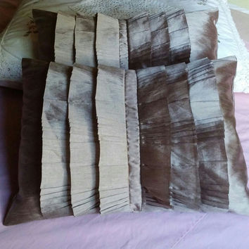 #* 1 Set of 2 #Throw Pillows 2nd One #FREE #Palais Royale Pleated Droplets Deco Beige