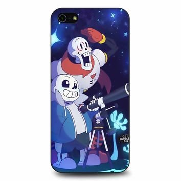 Undertale - Sans And Papyrus Waterfall iPhone 5/5s/SE Case