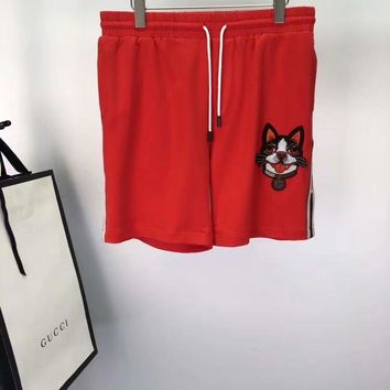 GUCCI 2018SS Spring and summer new style. Limited leisure shorts for the dog 002
