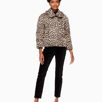 leopard-print puffer jacket | Kate Spade New York