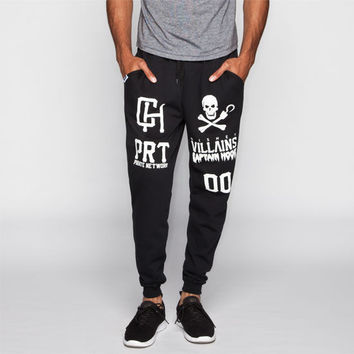 Neff Disney Villains Pirate Swetz Mens Sweatpants Black  In Sizes