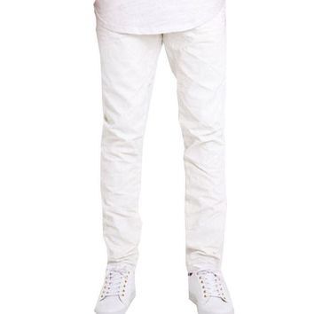 ONETOW Embellish NYC Jackson Denim Jeans In White