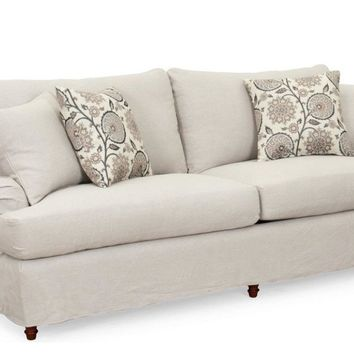 Seacoast Slipcovered Sofa | Light Gray