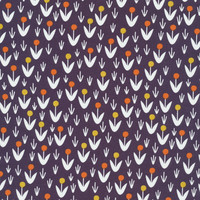 Dottie Blooms Navy - Organic Cotton - Morning Song Collection (5208.52.00.90)