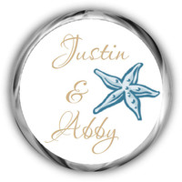 Starfish Personalized Wedding Stickers - Beach Theme Labels Wedding Sticker