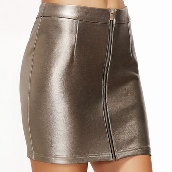 Metallic Champagne Skirt