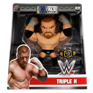"Jada Diecast Figure WWE 6"" Triple HHH w/ Removable Metal Championship Belt"